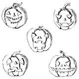 kluseczko halloween Ołówkowy rysunek ręką Zdjęcia Royalty Free