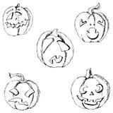kluseczko halloween Ołówkowy rysunek ręką Obraz Stock