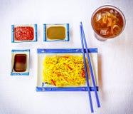 Kluski & Chopsticks Zdjęcia Stock