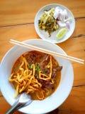 Kluski curry'ego polewka Zdjęcie Stock