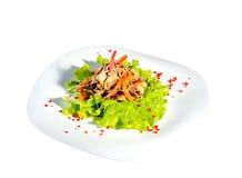 Kluski sałatkowi z warzywami Zdjęcia Royalty Free
