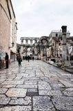 Kluven gammal stad för ` s, SPLITTRING, KROATIEN arkivbilder