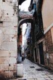 Kluven gammal stad för ` s, SPLITTRING, KROATIEN royaltyfri fotografi