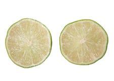 Kluven limefrukt två fotografering för bildbyråer