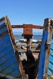 Kluvet träfartyg Royaltyfri Fotografi