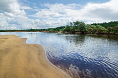 Klyazma river (Russia) Royalty Free Stock Image