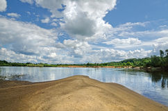 Klyazma river (Russia) Stock Image