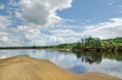Klyazma river (Russia) Stock Images