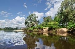 Klyazma river (Russia) Royalty Free Stock Photo
