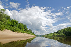Klyazma river (Russia) Stock Photo