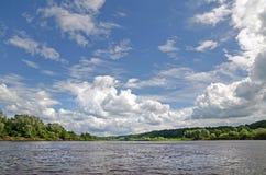 Klyazma river (Russia) Stock Photos