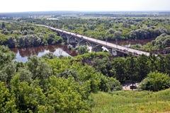 Klyazma River, Russia stock photo