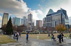 Klyde Warren Park à Dallas images libres de droits