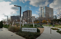 Klyde Warren Park in Dallas stock afbeelding