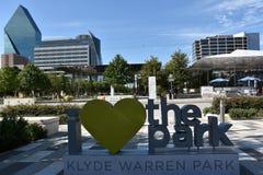 Klyde Warren Park in Dallas, Texas Royalty Free Stock Image