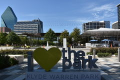 Klyde Warren Park in Dallas, Texas Stock Photo