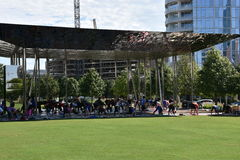 Klyde Warren Park in Dallas, Texas Royalty Free Stock Photography