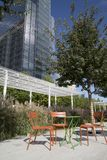 Klyde Warren Park in downtown of city Dallas Stock Photography