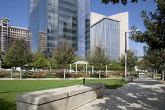 Klyde Warren Park in downtown Dallas Texas USA. Klyde Warren Park in downtown of city Dallas Texas USA Royalty Free Stock Image