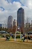 Klyde Warren Park en Dallas Imagen de archivo