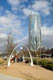 Klyde Warren Park en Dallas Imagen de archivo libre de regalías