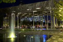 Klyde Warren Park night scenes Dallas Stock Image