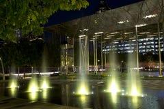Klyde Warren Park night scenes Royalty Free Stock Image