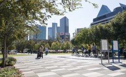 Klyde Warren Park at noon Royalty Free Stock Photo
