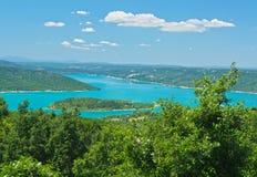 Klyfta du Verdon Alpes-de-Haute-Pro- vence, Provence-Alpes-skjul d'Azur, Frankrike Royaltyfri Foto