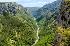Klyfta du Verdon i Provence, Frankrike Arkivfoto
