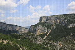 Klyfta du Verdon, Provence, Frankrike Arkivfoton