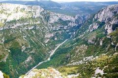 Klyfta du Verdon, Provence i Frankrike, Europa Arkivbilder