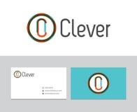 Klyftig logo vektor illustrationer