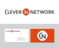 Klyftig nätverkslogo royaltyfri illustrationer