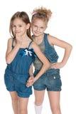 Klyftiga små flickor Arkivbild