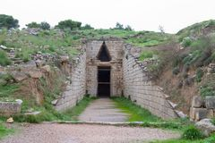 Klytemnestra Tholos Tomb, Mycenae Stock Photos