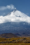 Klyuchevskoi Volcano - active volcano on Kamchatka. Russia Stock Images