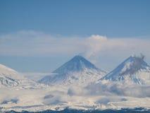 Klyuchevskoi vulkan Arkivbild