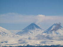 Klyuchevskoi wulkan Fotografia Stock