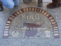 Km 0 ,madrid ,spain Stock Photography