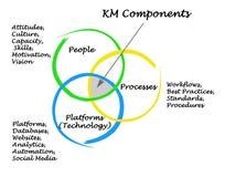 Km-Componenten vector illustratie