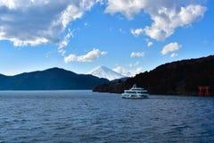 100km g?ry Fuji Japonii uwagi na zachodniej zimy Tokio fotografia stock