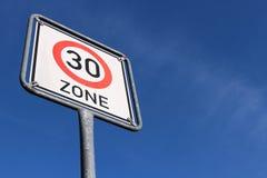 30 km/h strefa Zdjęcia Royalty Free
