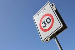 30 km/h strefa Obrazy Royalty Free