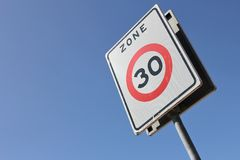 30 km/h zone Royalty Free Stock Images