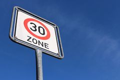 30 km/h zone Royalty Free Stock Photos