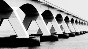 5 Km long Zeelandbrug, Zeeland, Netherlands Stock Photos