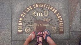 Km (0), Madryt, Hiszpania zdjęcia stock