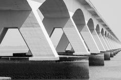 5 km snakken Zeelandbrug, Zeeland, Nederland Stock Afbeelding