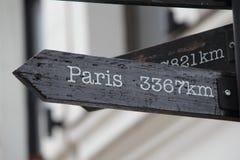 3367 km till Paris Arkivfoto